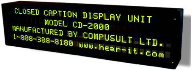 Caption Display